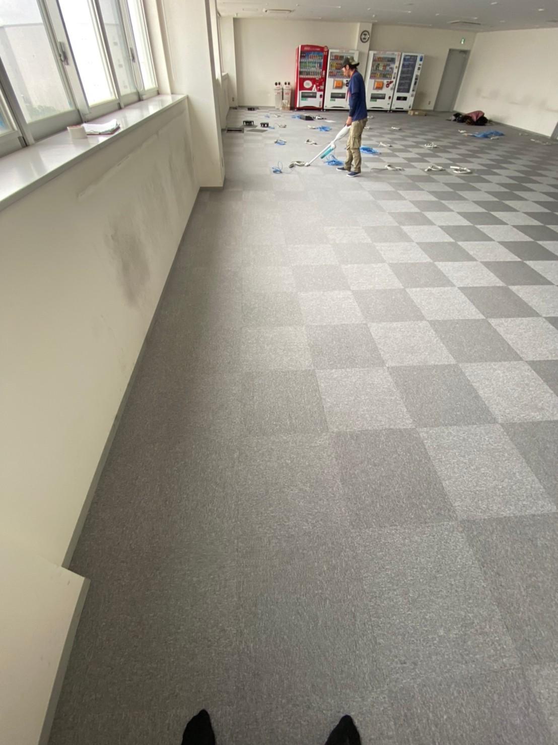 千葉県市川市のオフィスタイルカーペット工事