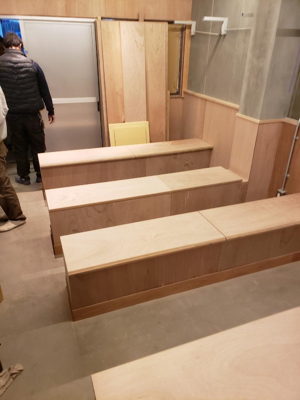 都内飲食店内装工事 造作家具